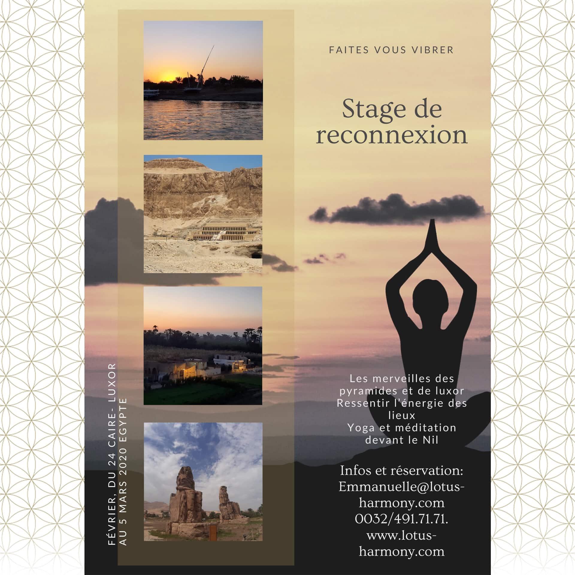 Voyage Égypte 2020 Lotus Harmony